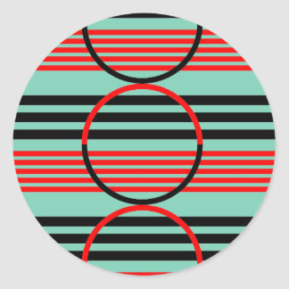 Round Sticker with Retro Graphic Design