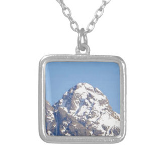 round top peak silver plated necklace