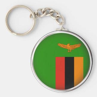 Round Zambia Basic Round Button Key Ring