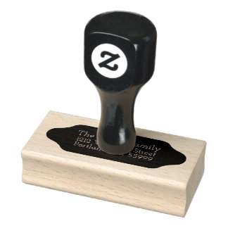 Rounded black shape custom stamp