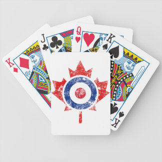 Roundel Canada Curling Hockey Target Grunge Ice Bicycle Playing Cards