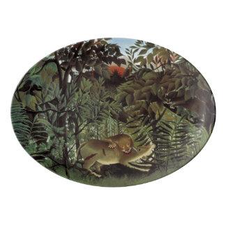 Rousseau's Hungry Lion porcelain platter