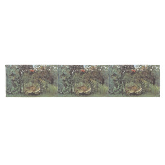 Rousseau's Hungry Lion table runner