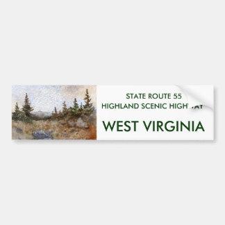 Route 55, WEST VIRGINIA, HIGHLAND SCENIC HIGHWA... Bumper Sticker