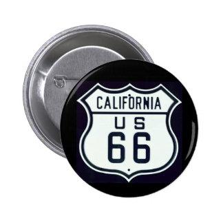 Route 66 California 6 Cm Round Badge