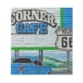 Route 66 Corner Cafe Wall Notepad