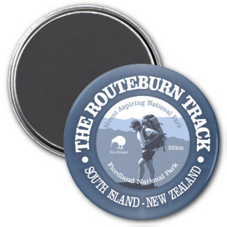 Routeburn Track 7.5 Cm Round Magnet