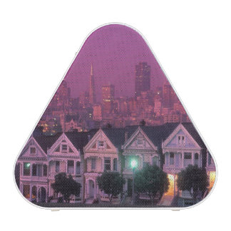 Row houses at sunset in San Francisco,