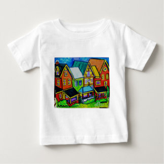 Row Houses Vermont Baby T-Shirt
