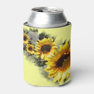 Row of Sunflowers Garden Wedding Favor Can Cooler