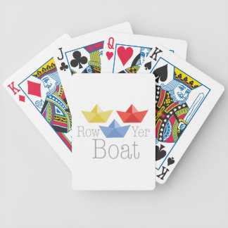 Row Yer Boat Bicycle Playing Cards