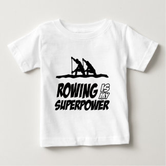 Rowing Superpower Designs Baby T-Shirt