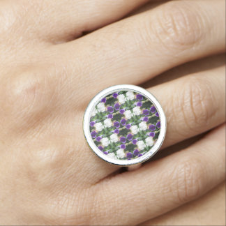 Rows Flowers Colorful Sensual Intimate NVN627 Ring