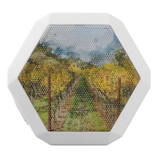 Rows of Grapevines in Napa Valley California White Bluetooth Speaker
