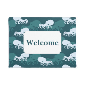 Rows Of Octopus Pattern | Add Your Text Doormat
