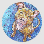 ROY the pitbull Round Sticker