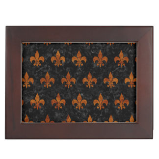 ROYAL1 BLACK MARBLE & BROWN MARBLE (R) KEEPSAKE BOX