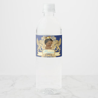 Royal African Prince Baby Water Bottle Labels