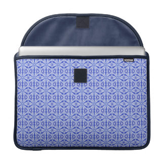 Royal and Mid Blue Fractal Pattern 15 Inch Sleeve For MacBooks