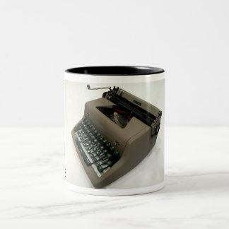 Royal Aristocrat typewriter Two-Tone Coffee Mug