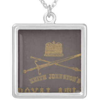 Royal atlas of modern geography silver plated necklace