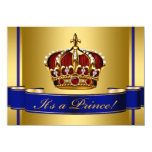 Royal Baby Red Blue and Gold Prince Baby Shower Custom Invite