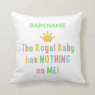 Royal Baby throw pillow