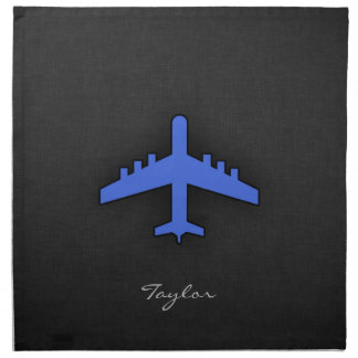 Royal Blue Airplane Napkin