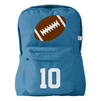Royal Blue Backpack: Football Backpack