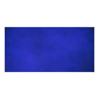 Royal Blue & Black Backgrounds Custom Photo Card