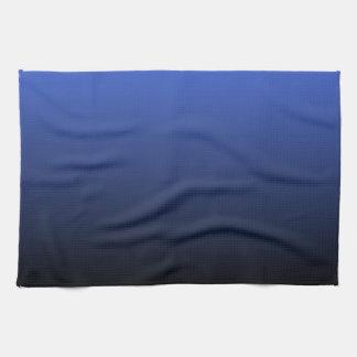 Royal Blue Black Ombre Tea Towel