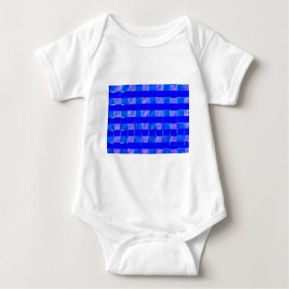 Royal Blue Check Squares Baby Bodysuit