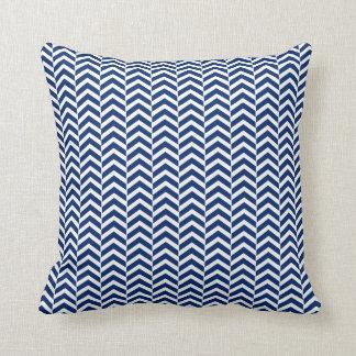 Royal Blue  Chevron Pattern Throw Pillow