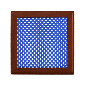 Royal Blue Combination Polka Dots Gift Box