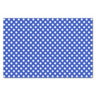 Royal Blue Combination Polka Dots Tissue Paper