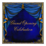 Royal Blue Gold Corporate Business Grand Opening Personalised Invite