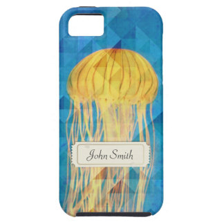 Royal Blue Jellyfish w/ Custom Name iPhone 5 Case