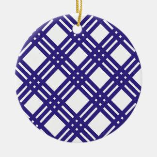 Royal Blue Lattice Christmas Ornament