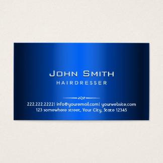 Royal Blue Metal Hairdresser Business Card