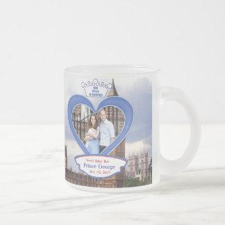Royal British Baby Prince George Frosted Glass Coffee Mug