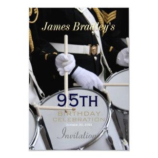 "Royal British Band 95th Birthday Celebration 3.5"" X 5"" Invitation Card"