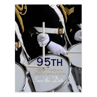 Royal British Band 95th Birthday Save the Date Postcard