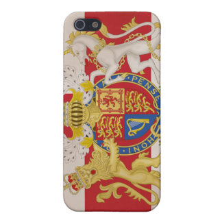 Royal Crest on Union Jack Flag Case For iPhone 5/5S
