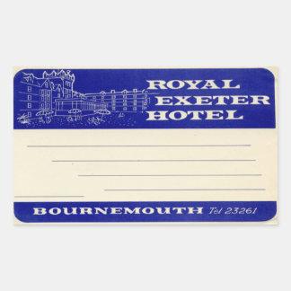 Royal Exeter Hotel Rectangular Sticker