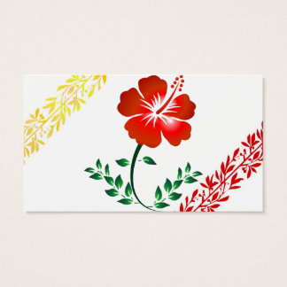 Royal floral business card