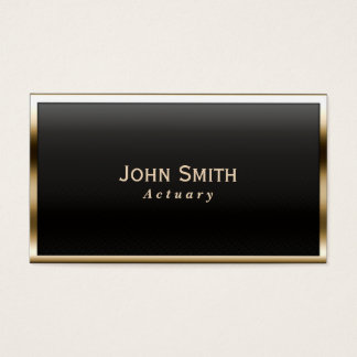 Royal Gold Border Actuary Business Card