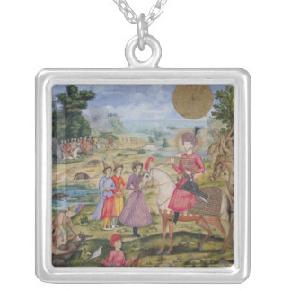 Royal Hunt, from Isfahan, Iran Silver Plated Necklace
