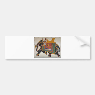 Royal Indian Elephant Bumper Sticker
