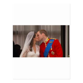 Royal Kiss Prince William and Princess Kate Postcard