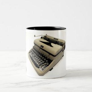Royal Morse Code typewriter Two-Tone Mug